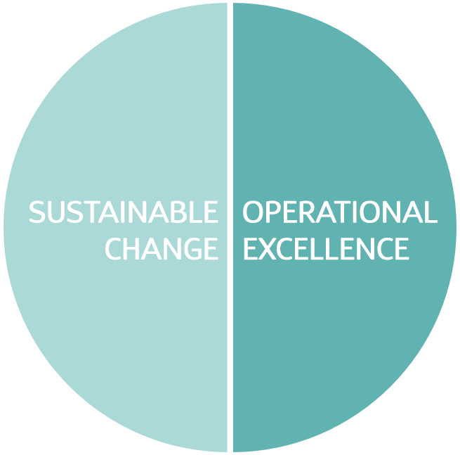 Sustainable change and Operational excellence