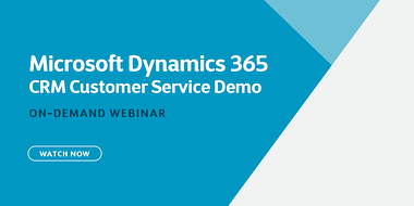 Demo recording of Microsoft Dynamics 365 CRM: Customer Service