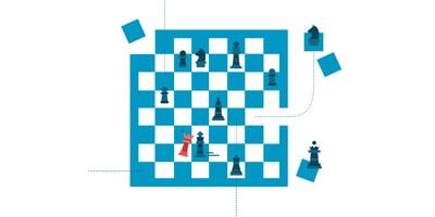 Schachbrett Taktik