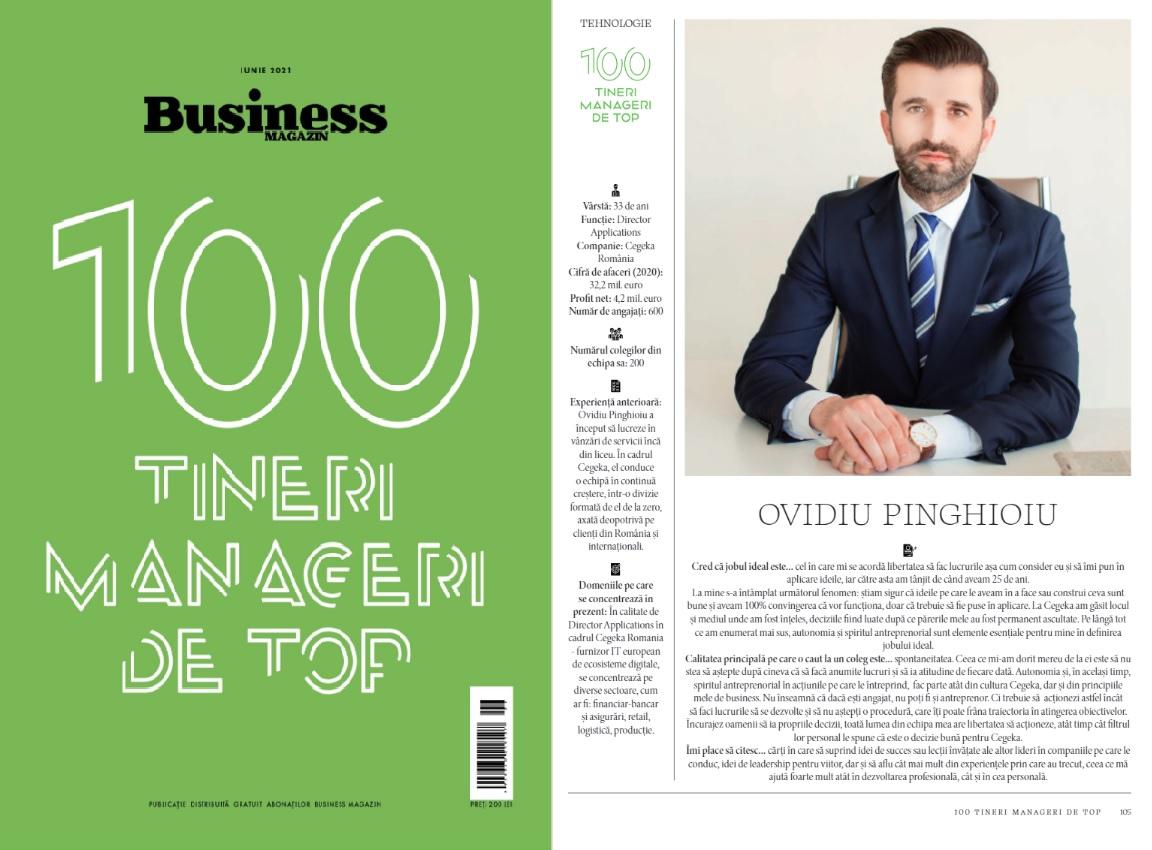 Ovidiu Pinghioiu in 100 tineri manageri de top