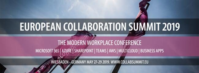 Banner European Collaboration Summit 2019