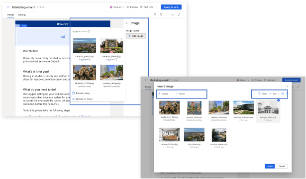 AI will help you select the best assets for your campaigns in Microsoft Dynamics 365 Marketing