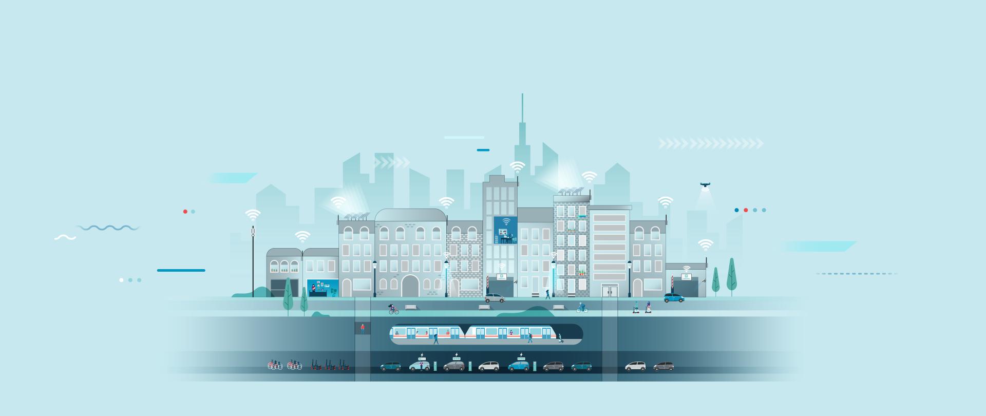 Hoe 5G de weg vrijmaakt voor echte smart cities