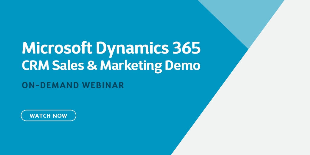 Demo recording of Microsoft Dynamics 365 CRM: Sales and Marketing