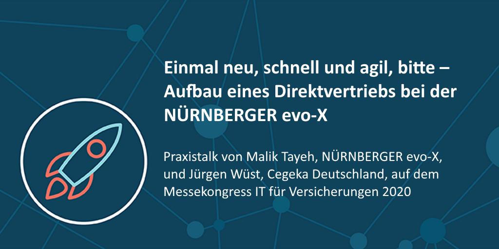 Messekongress IT für Versicherungen 2020: NÜRNBERGER evo-X & Cegeka