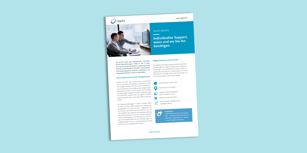 Solutionsheet:<br>Onsite Services (PDF)
