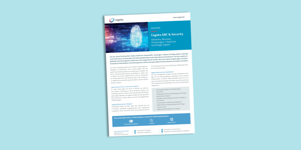 Solutionsheet:<br>Security Advisory Services (PDF)
