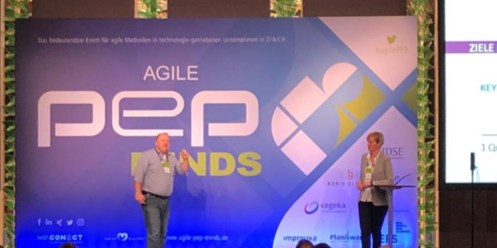 Volker Schmidt & Nina Erben auf der Agile PEP Minds 2019: OKR und agile Methoden