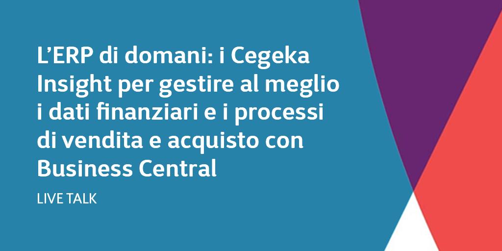 L'ERP di domani: i Cegeka Insight per gestire al meglio i dati finanziari e i processi di vendita e acquisto con Business Central