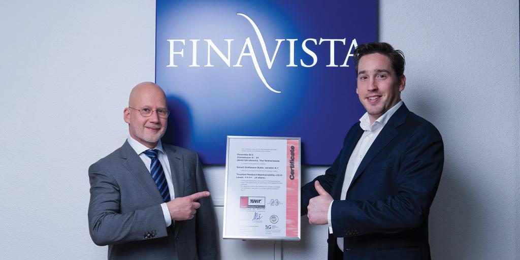 Kwaliteit Finavista-software door SIG bekroond met 4-sterren